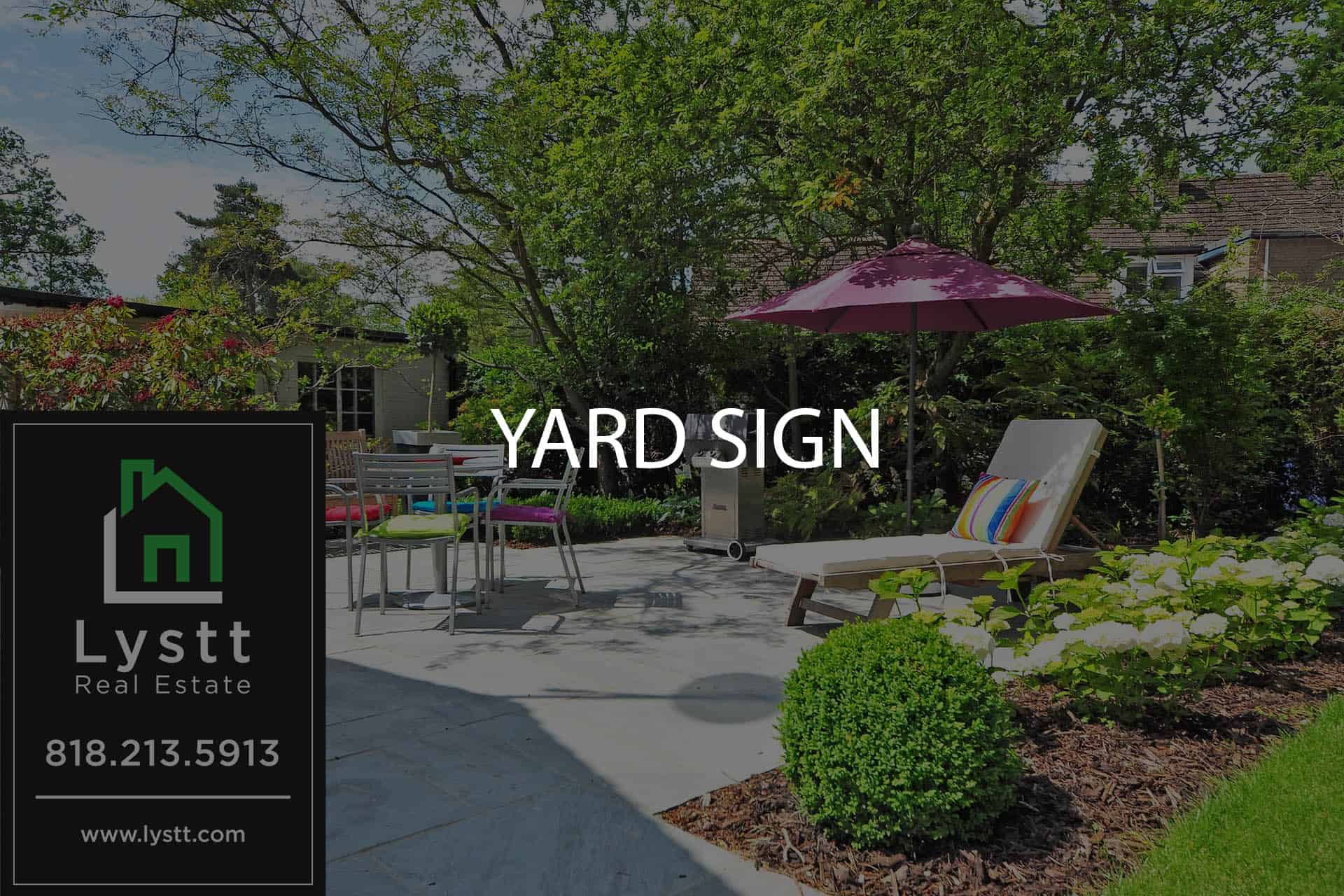 Lystt YARD SIGN
